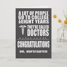 Funny Doctor Graduation Greeting Card Zazzle Com