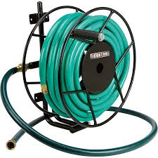 ironton wall mount garden hose reel holds 100ft x 5 8in hose