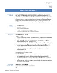 Nanny Resumes Samples Sample Resume Examples With Inspiration