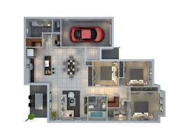 "Three "" "" Bedroom Apartment House Plans   Architecture  amp  Design   d house plans"