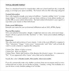Audition Resume Format Awesome Resume Template For Actors Theatre Resume Template Acting Resume