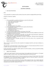 Assembly Line Job Description For Resume cover letter electronic assembly job description electronic 77