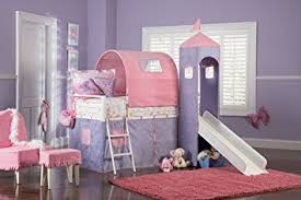 princess bunk beds with slide. Delighful Princess Powell Princess Castle Twin Tent Bunk Bed With Slide To Beds With Amazoncom