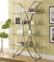 modern furniture shelves. Metal And Glass Book Shelf Display Unit Modern Furniture Shelves R