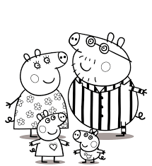 Excellent Peppa Pig Coloring Sheets Waggapoultryclub