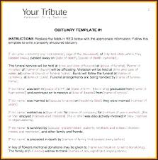 Death Announcement Templates Funeral Notice Template Word Piliapp Co