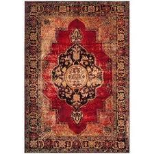 vintage hamadan red multi 4 ft x 6 ft area rug