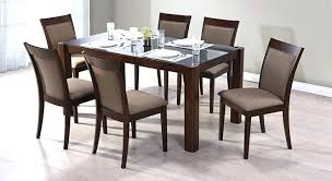glass dining table sets 6 modern
