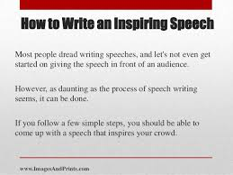 to write a good how to speech how to write a good how to speech