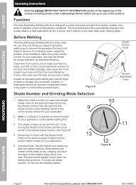 Welding Filter Lens Chart Manual For The 46092 Adjustable Shade Auto Darkening Welding