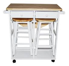 kitchen island cart with seating. Kitchen Cart Frame Finish: White - Island: Great Utility With 2 Stowaway Stools Warranty: 90 Days Manufacturer Made From Rubber Wood Assembly Island Seating W