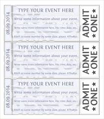 Play Ticket Template Free Ticket Templates Download Free 32879644582 Fundraiser