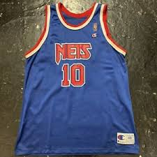 Details About Vintage New Jersey Nets Mookie Blaylock Replica Champion Nba Jersey Size 48