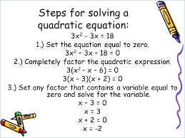 objective use factoring to solve quadratic equations standard s