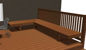 bench comfortable seat dimensions deck railing seating