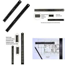 Scale Ruler Conversion Chart 6 Stainless Steel Pocket Ruler 1 64 1 32 Scales Decimal