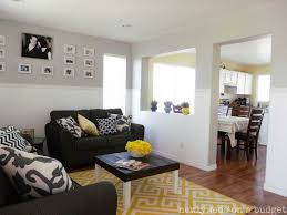 Grey White And Yellow Living Room - Interior Design