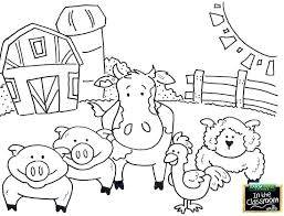 Free Printable Coloring Pages Farm Animals Farm Animal Coloring