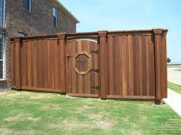 double fence gate. Gates Double Arched Trim USA FENCE AND ROOFING Fence Gate