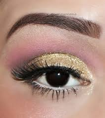 gold sparkly eye makeup how to do gold glitter eye makeup tutorial indian beauty touch