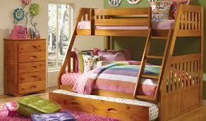 Discovery World Furniture Honey Twin Over Full Mission Bunk 2118