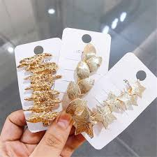 <b>3Pcs</b>/<b>set</b> Fashion <b>Pearl Metal Gold</b> Color Hair Clip Bobby Pin ...