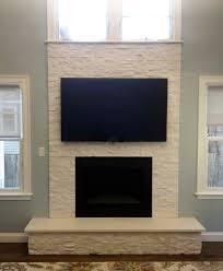 white stones fireplaces