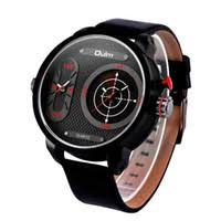 new mens designer watches uk uk delivery on new mens cheap genuine oulm 3221b mens watches brand luxury designer clock big round dial wrist watch dual timezone double machine core