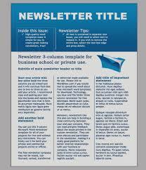 Three Column Newsletter Template Gallery Of Microsoft