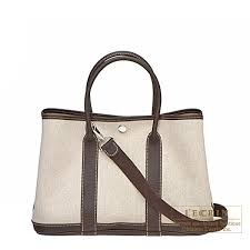 garden party hermes. Hermes Garden Party Bag TPM Cocaon Cotton Canvas Silver Hardware