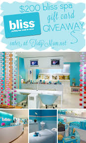 win a 200 gift card to bliss spa at tidymom net