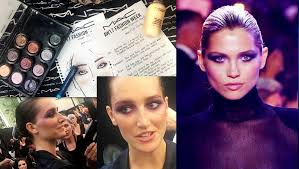 the makeup created by the makeup artists of mac cosmetics reflects the taste of this over chic elegance as the lighter makeup of bella hadid that gives