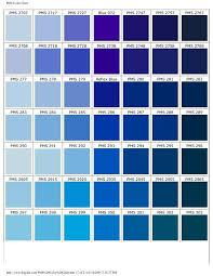 Pantone Color Blue Chart Pms