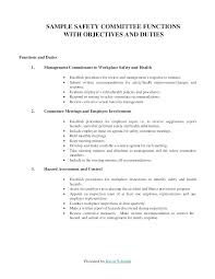 Sample Corporate Minutes Template Free Download Safety Committee