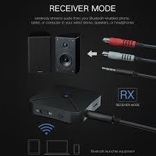 bn 2 in 1 wireless bluetooth 4 2 audio transmitter receiver tv car receiver universal