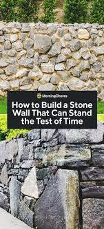 how to build a stone wall that can