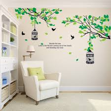 birdcage birds removable tree vinyl wall stickers mural art decal for home sticker bedroom decals adesivo on vinyl wall art decals trees with birdcage birds removable tree vinyl wall stickers mural art decal