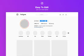 Free Instagram Web Profile Template Creativetacos