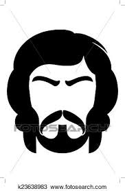 あごひげを生やした男 イラスト クリップアート切り張りイラスト絵画集