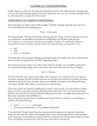 Classical Conditioning In The Classroom Classical Conditioning