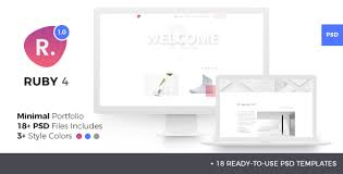 Psd Website Templates Stunning Ruby Four Minimal Creative Portfolio PSD Template By Viworxco