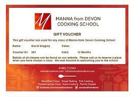 Gift Vouchers Manna From Devon Cooking School