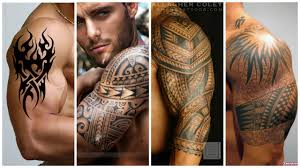 модные мужские татуировки на бицепс