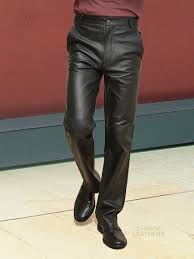 higgs leathers tommy black leather trousers pants for men
