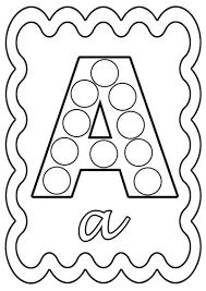Coloriage Alphabet Lettre De A A Z Atelier Pinterest Coloriage