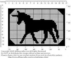 Filet Crochet Unicorn Pattern