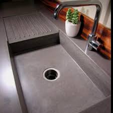this is the counter sink and drying rack i want at the new house concrete countertops diy how to make a concrete kitchen countertop