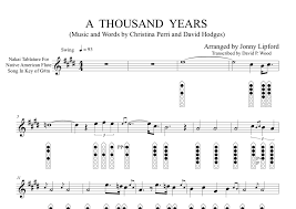 A Thousand Years Sheet Music A Thousand Years Sheet Music For Native American Flute Pdf