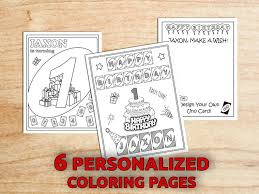 Uno Birthday Party Coloring Pages 1st Birthday Uno Party Etsy
