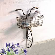 iron bicycle wall decor on bike wall decor with basket with iron bicycle wall decor at signals hx5456